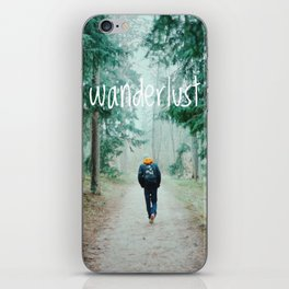 Wanderlust iPhone Skin