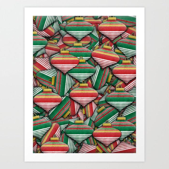 Ornament Pile - Christmas Design Art Print