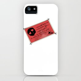 Last night on earth iPhone Case