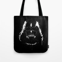 vader Tote Bags featuring Vader by Purple Cactus