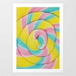 Pastel Rainbow Lollipop Art Print