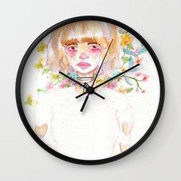 Harajuku Flowers Wall Clock