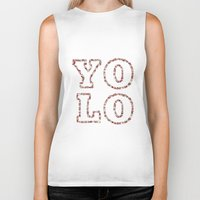 yolo Biker Tanks featuring YOLO by Sylvie Tunez