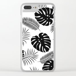TROPICAL LEAVES 7 Clear iPhone Case