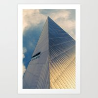 pyramid Art Prints featuring Pyramid by Cameron Booth