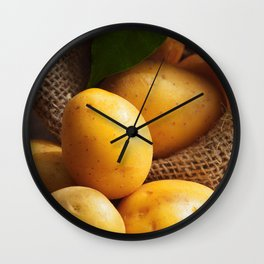 Farmer potato for your Design in the kitchen Wall Clock