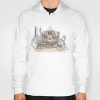 steam punk Hoodies featuring Steam punk carriage by grop