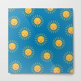 Little Sunshine (blue) Metal Print