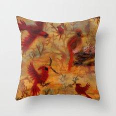 The Cardinal Tree Collage Throw Pillow