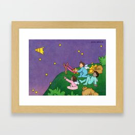 Giving Wishes Wings Framed Art Print