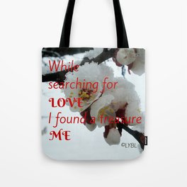 Love Yourself  Merry Christmas Edition Treasure Tote Bag