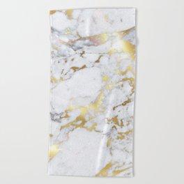 Original Gold Marble Beach Towel
