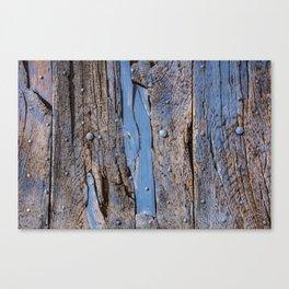 Wooden door in Gordon, France Canvas Print