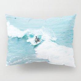 Wave Surfer Turquoise Pillow Sham
