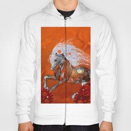 Steampunk, wonderful wild steampunk horse Hoody