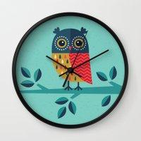 marina and the diamonds Wall Clocks featuring WOOHOO IT'S CHRISTMAS! by Daisy Beatrice