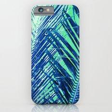 Tropical Palm Blue iPhone 6 Slim Case