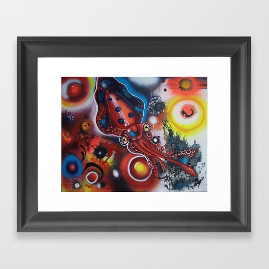 Squink Framed Art Print