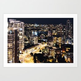 Gold Luminous Yaletown Vancouver Art Print