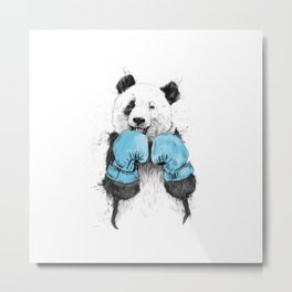 Boxing Panda Metal Print