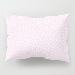 Palest Pink and White Polka Dot Pattern Pillow Sham