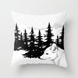 Arctic Animals - Arctic Tundra Throw Pillow