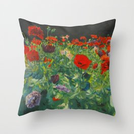 John Singer Sargent Poppies Throw Pillow