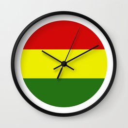 Bolivia flag Wall Clock