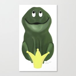 Frog prince, Froschkönig Canvas Print
