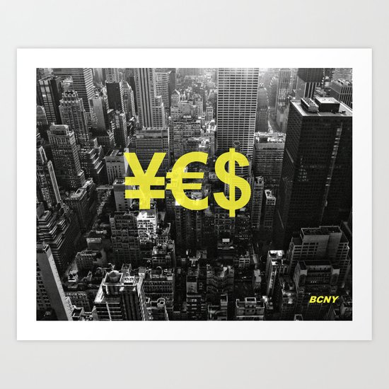 YES NYC Art Print