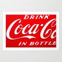 coca cola Art Prints featuring Coca-Cola by Kai Gee