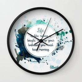 Albert Einstein's quote Wall Clock