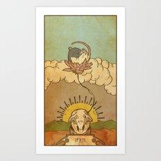 Muroidea Rat Tarot- Death Art Print
