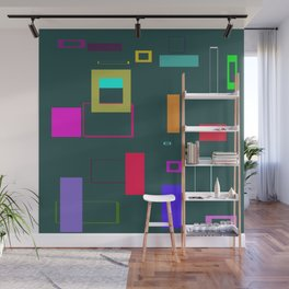 Squares and Rectangles Wall Mural