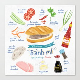 Bánh Mì (Vietnamese Baguette) Canvas Print