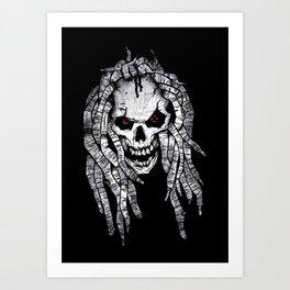 White reagge skull Art Print