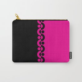Pink & Black  / Two Tone Modern Carry-All Pouch