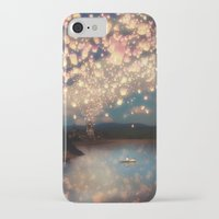 randy c iPhone & iPod Cases featuring Love Wish Lanterns by Paula Belle Flores