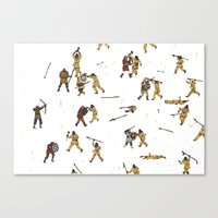 fight Canvas Prints featuring Fight! by Joe Lillington