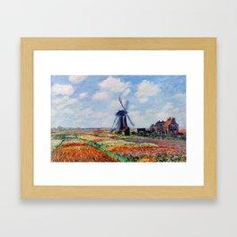 Claude Monet Tulip Field In Holland Framed Art Print