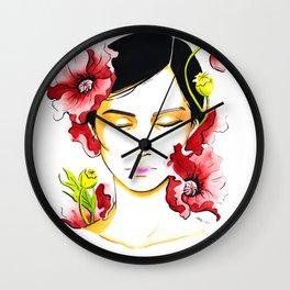 Poppy Day Wall Clock