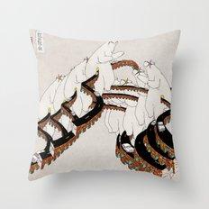 TURNING DRAGON Throw Pillow