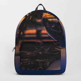 Sunset along the Long Jetty Lensball Backpack
