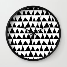 Playful triangles Wall Clock