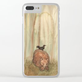 Bear and Crow Clear iPhone Case