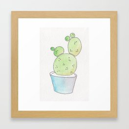 Plump Cactus Framed Art Print