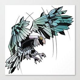 Geometric eagle Canvas Print