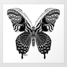 Butterfly Spirit Animal Art Print