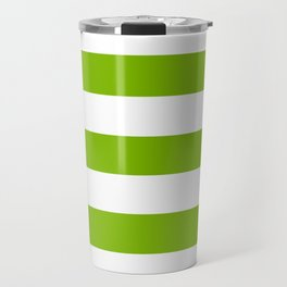 Microsoft green - solid color - white stripes pattern Travel Mug
