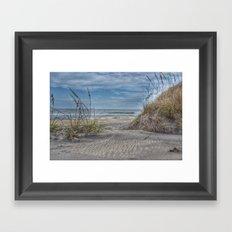 Sand Swirls Framed Art Print